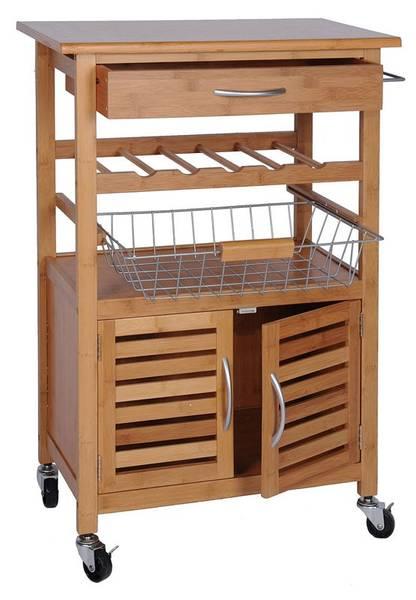 Bilde av Kjøkkentralle bambus m/hjul