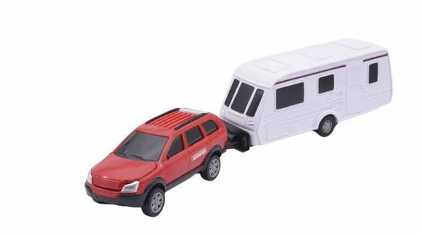 Bilde av TEAMA – Jeep m/campingvogn – 4 ass (32cm)
