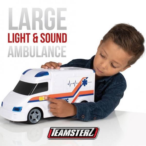 Bilde av TEAMSTERZ – Ambulanse m/lyd og lys (40cm)