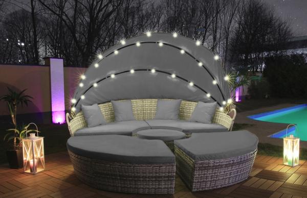 Bilde av LED Poly Rotting soløy XXL 210 cm - grå