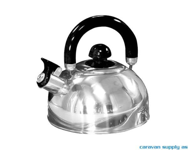 Bilde av Kaffekjele 1,5l rustfritt stål plystrende grå