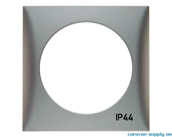 Bilde av Ramme til 1 bryter IP44 Berker 60x60mm krom matt