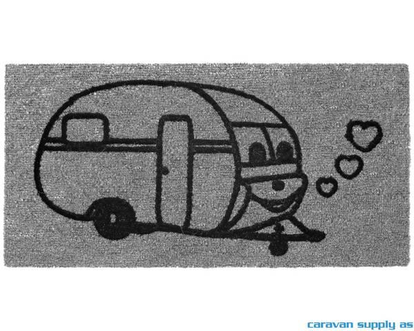 Bilde av Dørmatte Arisol Derby Caravan 60x40cm grå