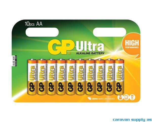Bilde av Batteri GP Ultra LR6/AA alkalisk 1,5V 10stk