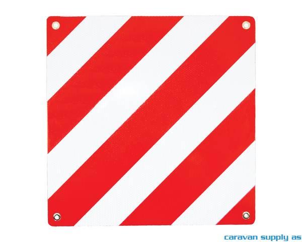 Bilde av Varselskilt til sykkelstativ 50x50cm alu godkjent