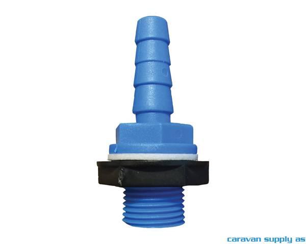 Bilde av Tankgjennomføring 10/12mm rett blå