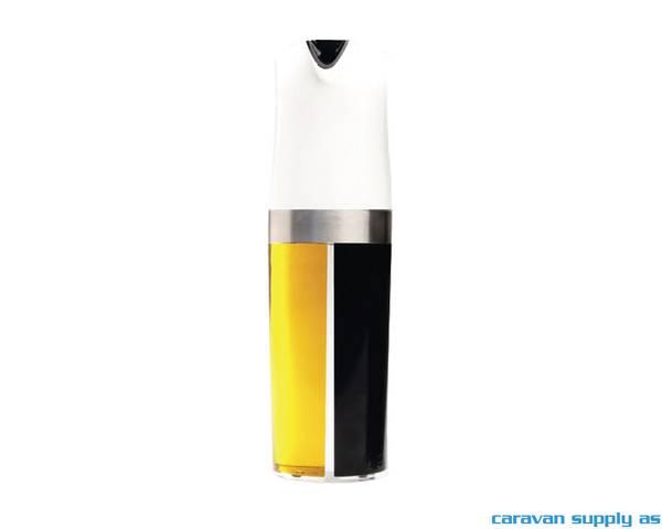 Bilde av Olje- og eddikbeholder 2-i-1 1dl Ø6cm H:20cm hvit