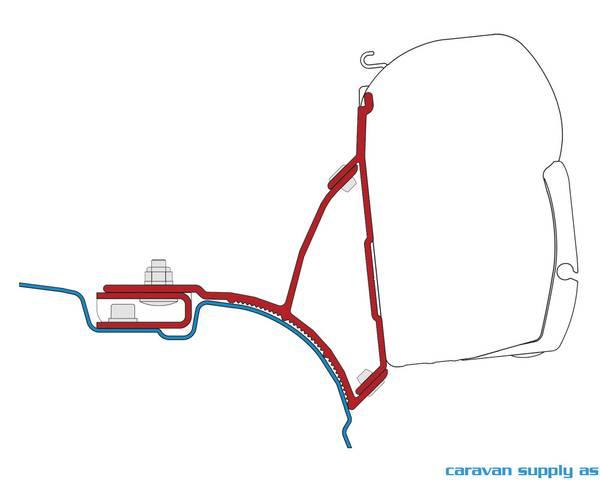 Bilde av Feste F45 VW T5 Transporter Multivan 2x21cm feste