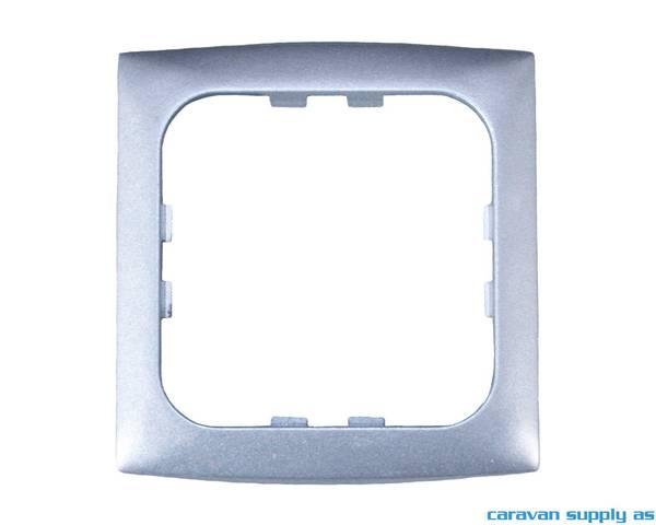Bilde av Ramme til 1 bryter C-Line 60x60mm sølv