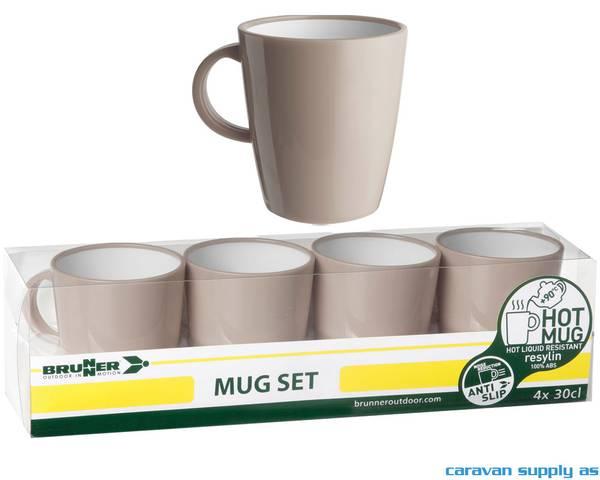 Bilde av Krus Brunner Hot Mug Pepita lysbrun 4stk