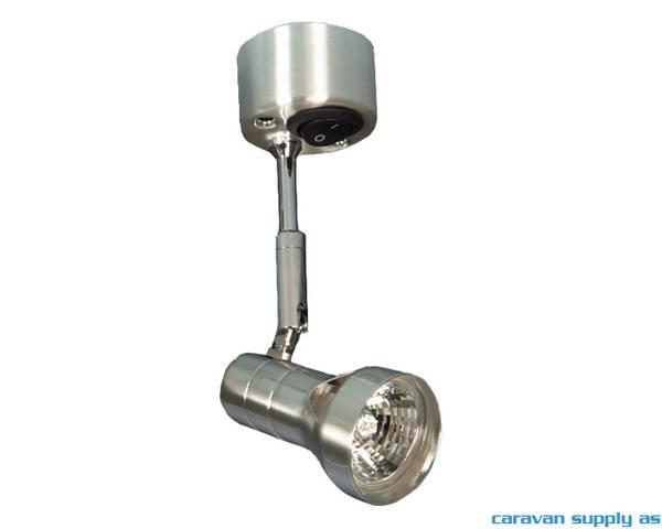Bilde av Lampe Microlight m/1 spot+bryter 12V matt krom