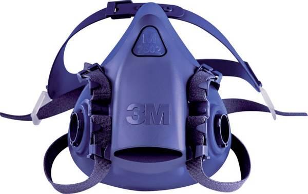 Bilde av 3M maske halv 7502 silikon medium