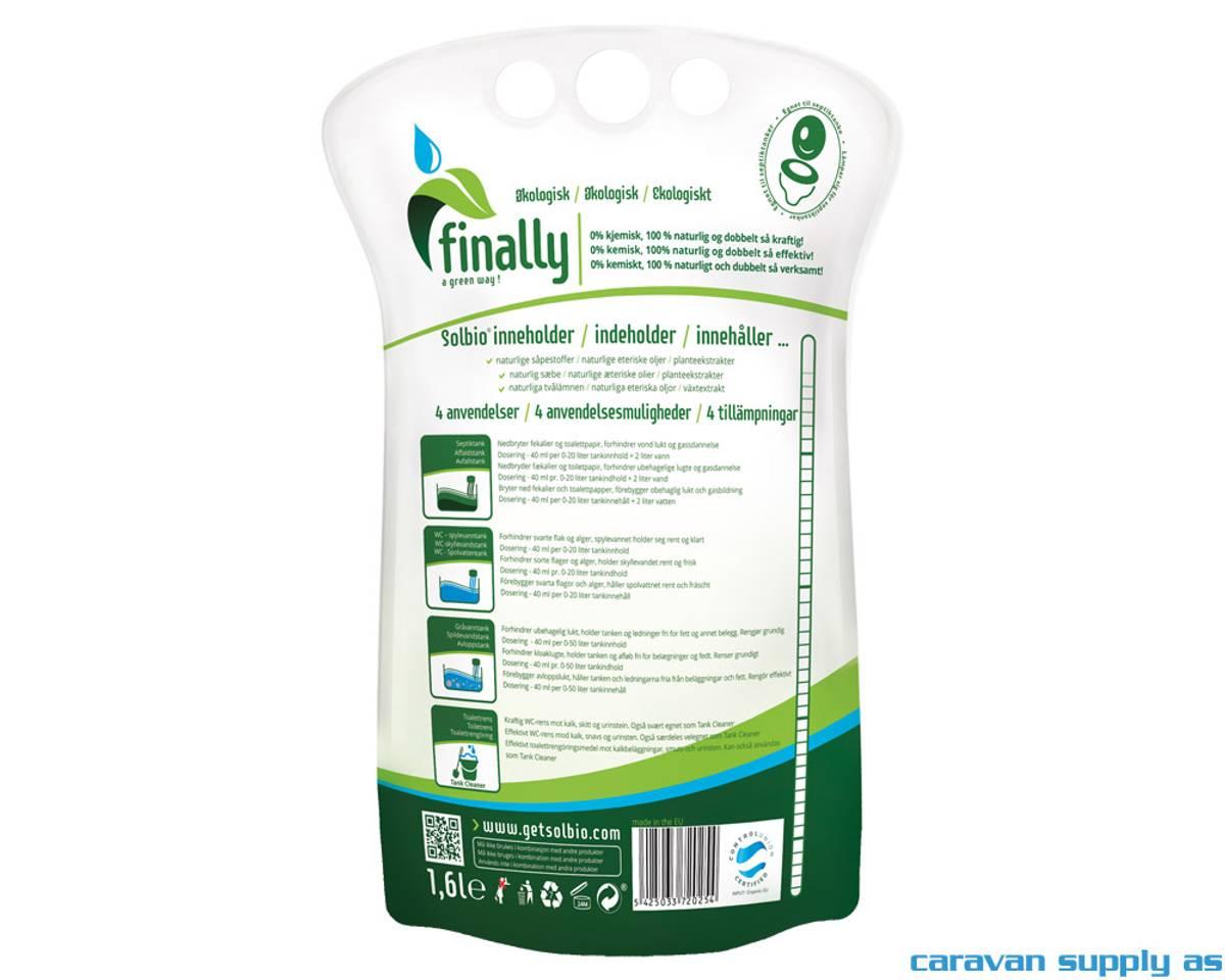 Sanitærvæske Solbio Original 1,6l = 40 doser