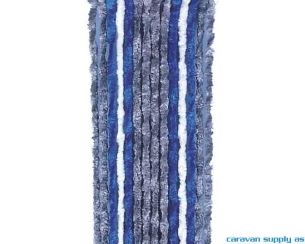 Bilde av Dørforheng Arisol chenille 185x56cm grå/blå/hvit