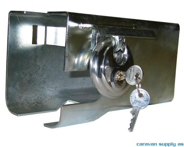 Bilde av Kulekoblingslås universal galvanisert m/discuslås