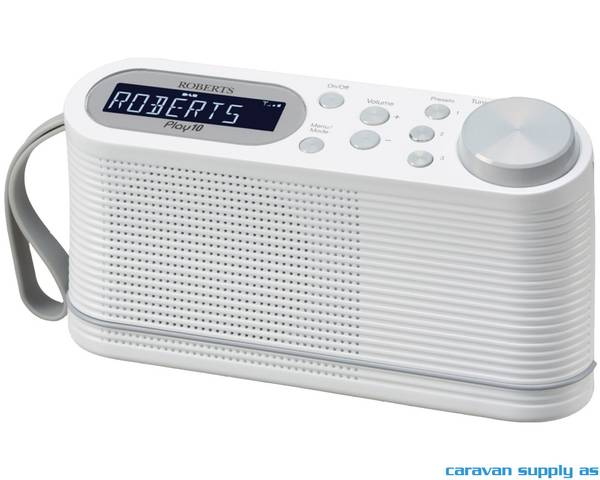 Bilde av Radio Roberts Play 10 DAB+/FM hvit