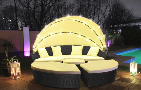 Bilde av LED Poly Rotting soløy XXL 210 cm - sort