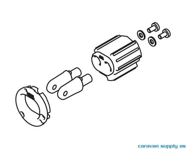 Bilde av Left roller end part caravanst.13 snr>9580700