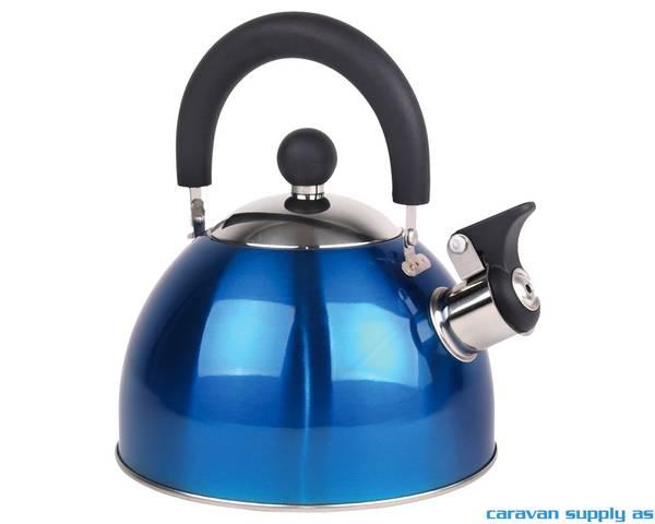 Bilde av Kaffekjele 1,8l rustfritt stål plystrende blå