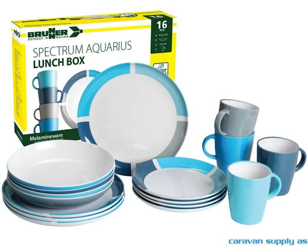 Bilde av Servise Brunner Aquarius Lunch Box 16-deler