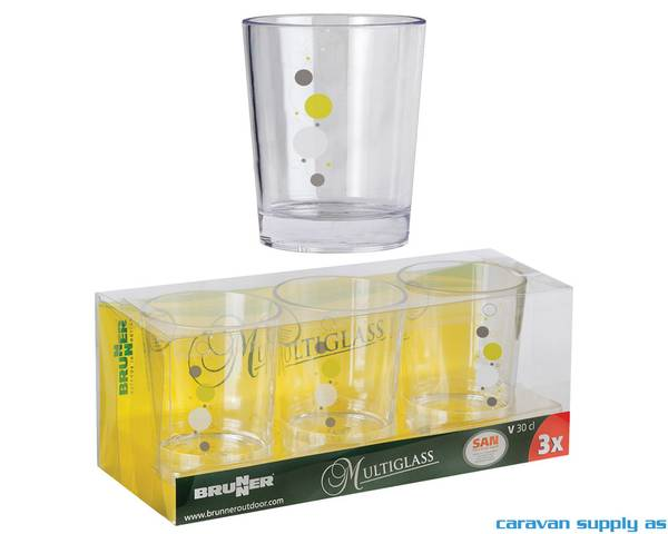 Bilde av Glass Brunner Space 30cl 3stk