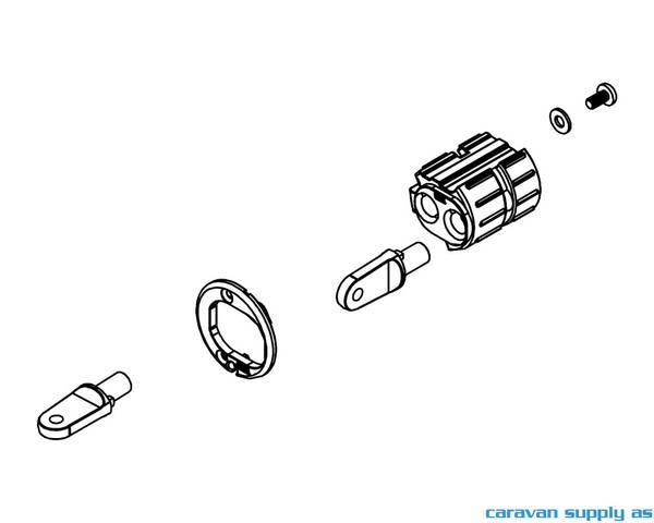 Bilde av Left roller end part carav.07/F35 snr>9389000