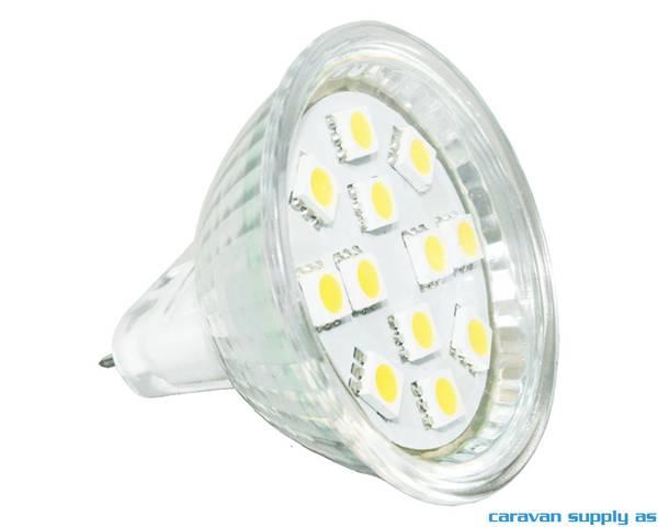 Bilde av Lyspære MR16 LED 120 lumen 2W (15W) 12V 50x38mm