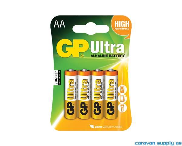 Bilde av Batteri GP Ultra LR6/AA alkalisk 1,5V 4stk