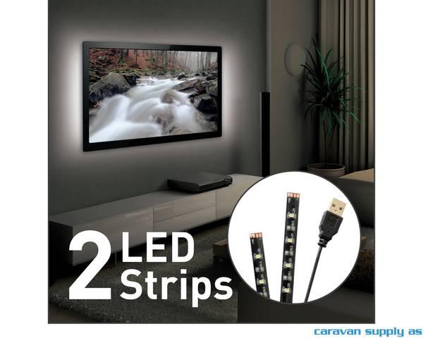 Bilde av Lysstripe LED USB til 80