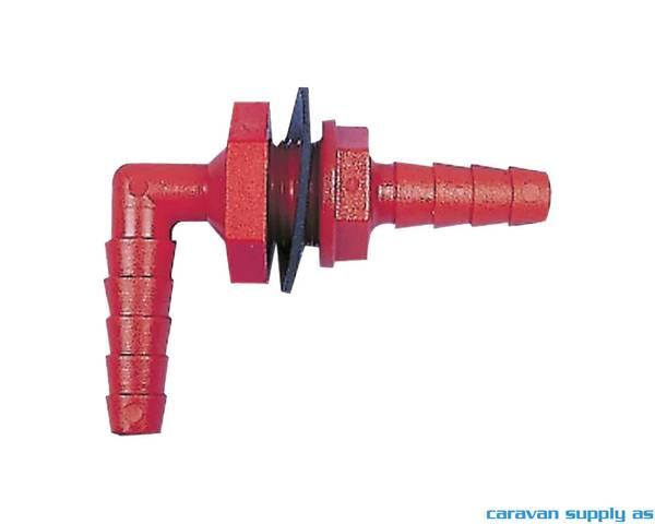 Bilde av Tankgjennomføring 10/12mm vinkel rød
