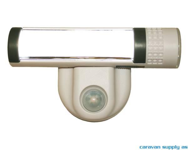 Bilde av Lampe Colorado 1LED m/sensor+lommelykt 17x10x5cm