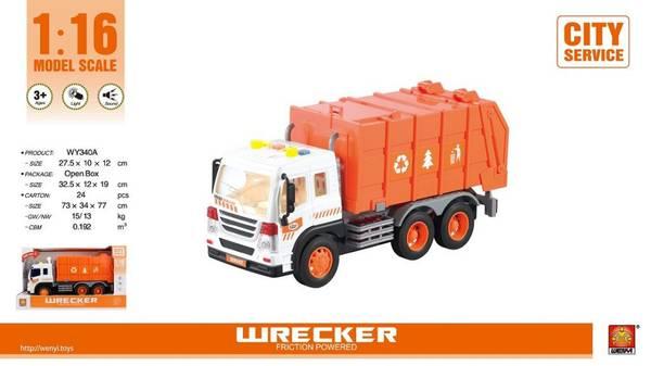 Bilde av WENYI – Søppelbil m/lyd og lys (32cm)
