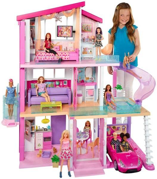 Bilde av Barbie Dreamhouse - lekehus med 3 etasjer og