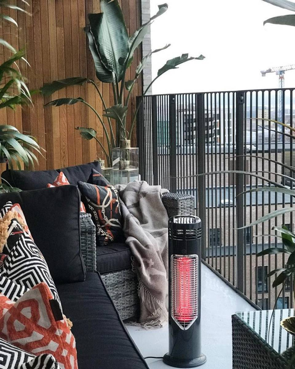 Imus terrassevarmer 550W - Sort