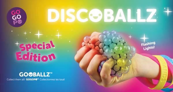Bilde av GOGOPO GOOBALLZ – DISCO SQUEEZE BALL M/KROK OG