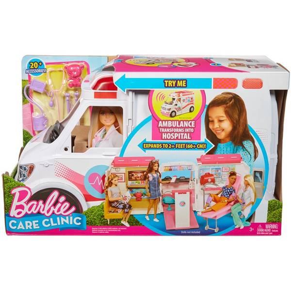 Bilde av Barbie 2-in-1 ambulanse og legekontor