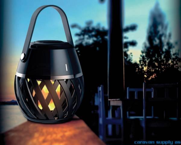 Bilde av Lampe Helios flammelampe LED svart