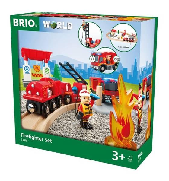 Bilde av BRIO Togsett med brannmannstema