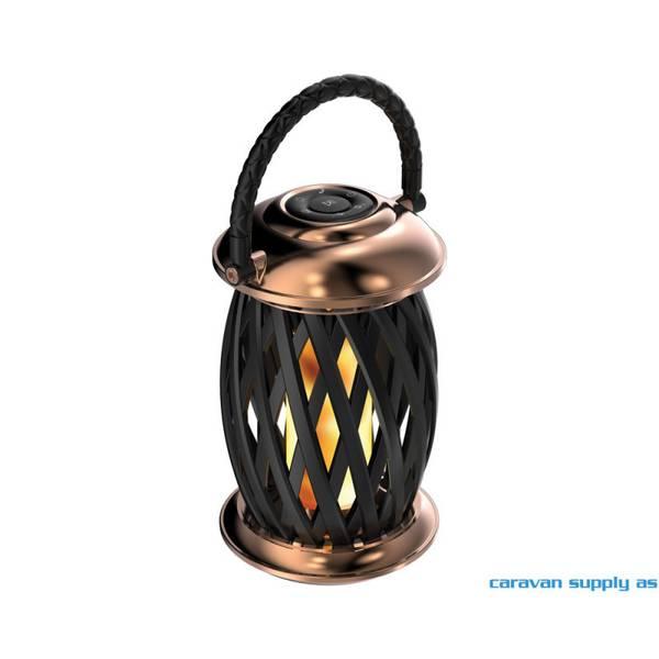 Bilde av Lampe Ignis flammelampe m/blåtann LED kobber