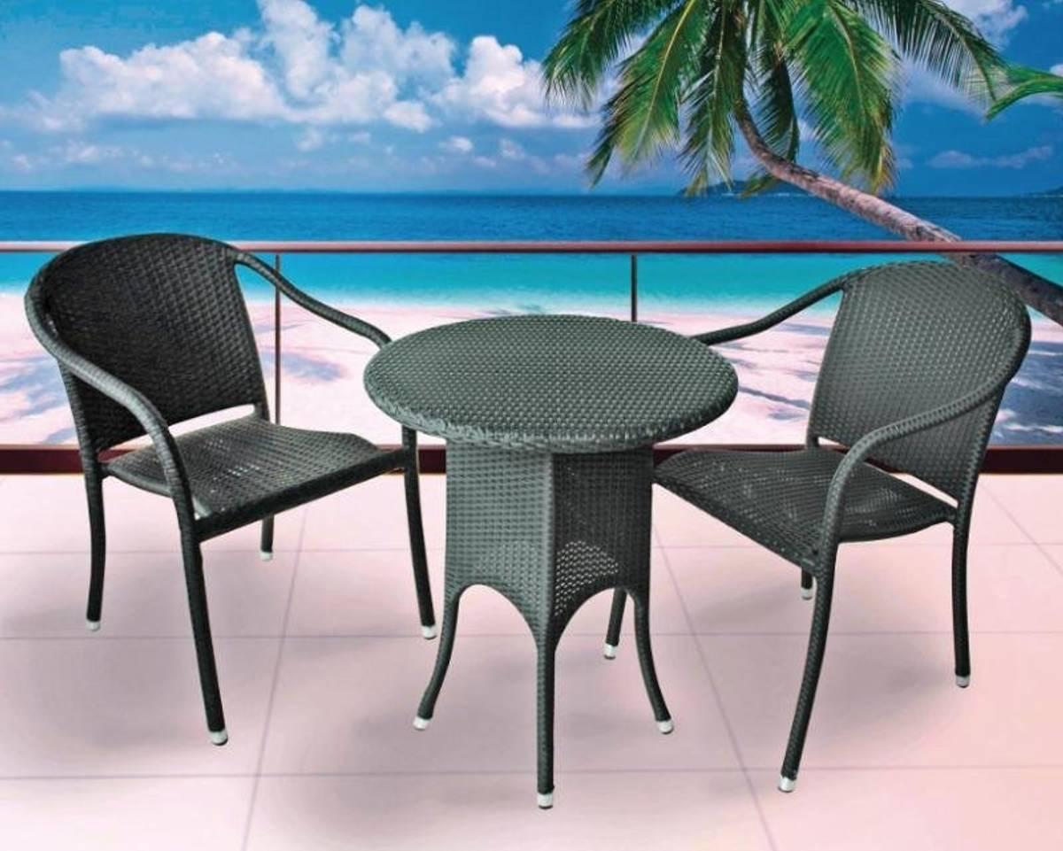 Topdesign sittegruppe i rotting -  2 stoler og bord