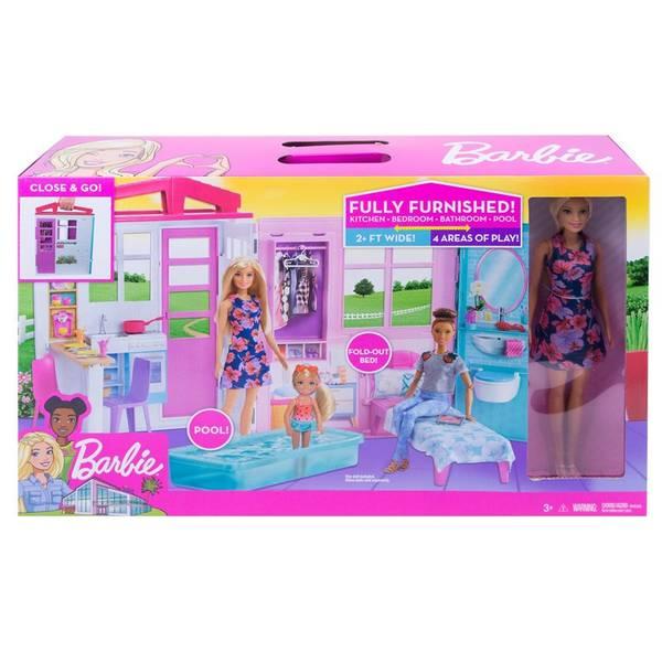 Bilde av Barbie Doll - mobilt dukkehus med møbler