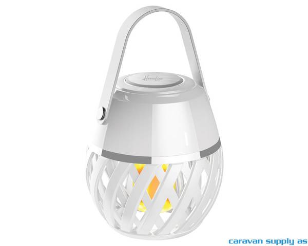 Bilde av Lampe Helios flammelampe LED hvit