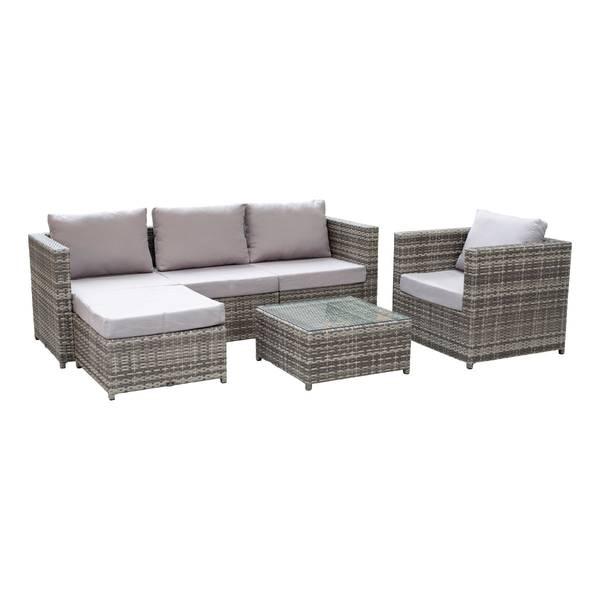 Bilde av Top Designs Sofagruppe i 6 deler med sjeselong