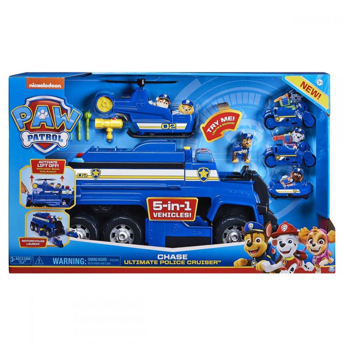 Paw Patrol Ultimate Rescue Politi 5-i-1 med helikopter