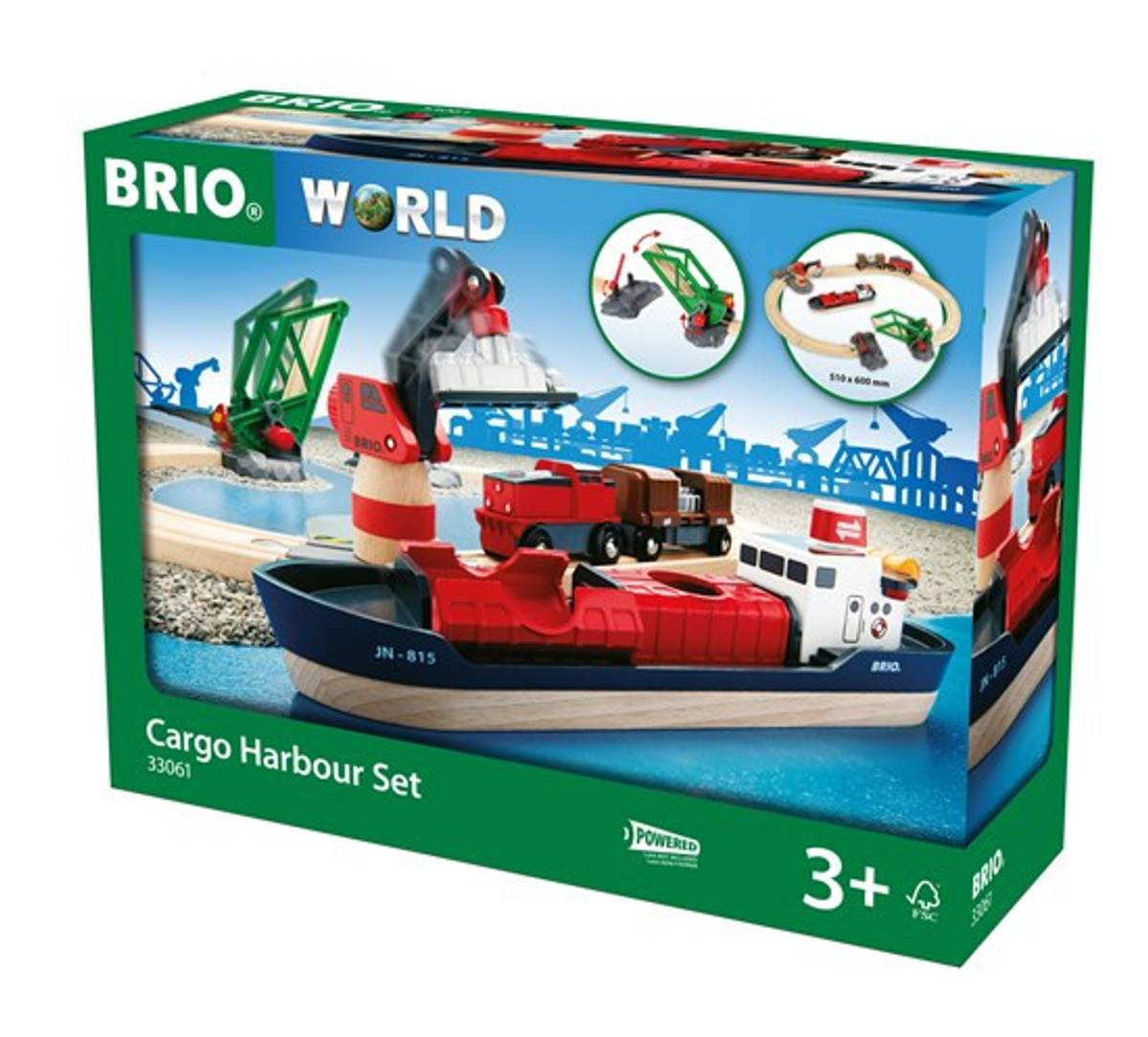 BRIO Togbane Havne sett 16 deler