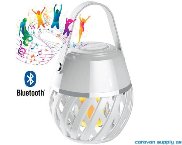 Bilde av Lampe Helios flammelampe m/blåtann LED hvit
