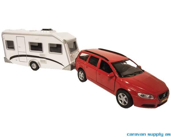 Bilde av Lekebil Volvo V70 med campingvogn