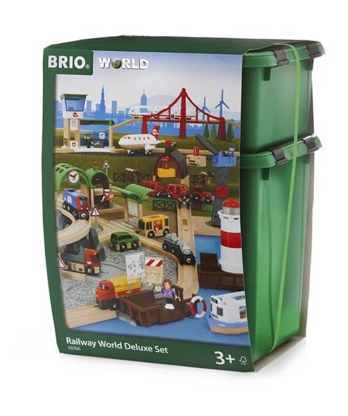Bilde av BRIO Luksussett med togbane og tilbehør