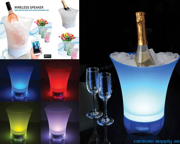 Bilde av Vinkjøler m/blåtann og LED lys
