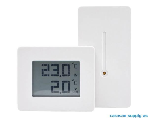 Bilde av Termometer Capadi ute/inne trådløs hvit